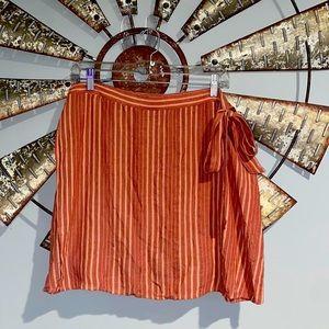 American Eagle   Orange Wrap Skirt